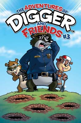 The Adventures of Digger and Friends #3 cover