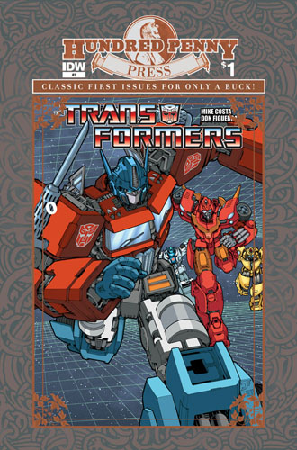 TRANSFORMERS #1 Hundred Penny Press Edition cover