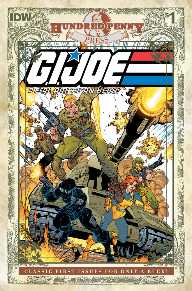 G.I. JOE: A REAL AMERICAN HERO #1 Hundred Penny Press Edition cover