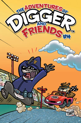 The Adventures of Digger and Friends #4 cover