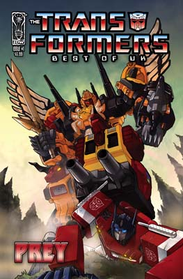 Transformers: Best of the UK:Prey TPB cover