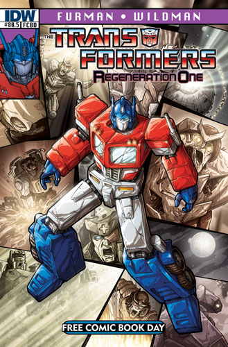 TRANSFORMERS #80.5 Free Comic Book Day Cover