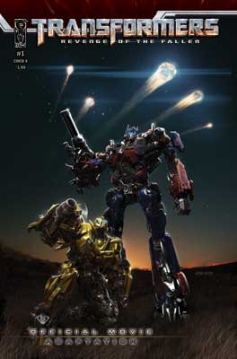 Transformers: Revenge of the Fallen Movie Adaptation #1 cover